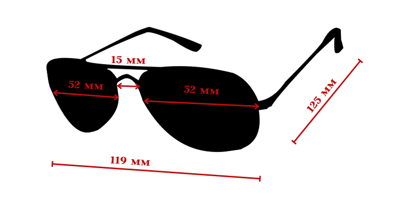 размер на слънчеви очила